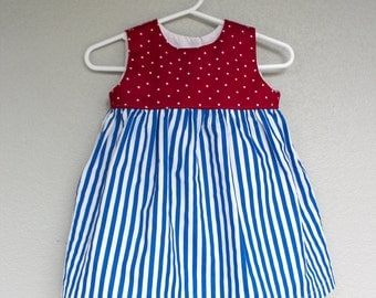 Red, White, Blue Baby Dress