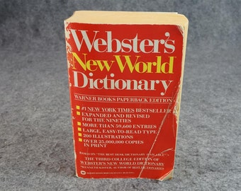 Webster's New World Dictionary C. 1990.