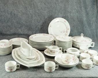 Heinrich Porczellan H&C Selb Bavaria China Set 51 Pieces C. 1930s