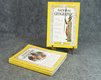 National Geographic Magazine 1961 Four Issues Months 2, 6,7,10