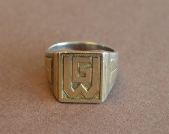 Art deco ring WG circa 1920 in silver 750, a lovely ring for you or someone you love!
