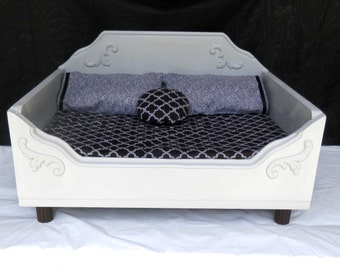 Dog Bed, Cat Bed,Pet Bed for Small Dogs or Cats, Wooden Pet Bed, Memory Foam Bed