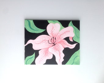 Tiger Lily Painting, Tiger Lily Art, Flower Painting, Flower art, abstract Nature, Abstract  Flower, Nature Painting,Nature art,Gift for her