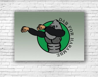 Dab for Harambe Illustration Art Print