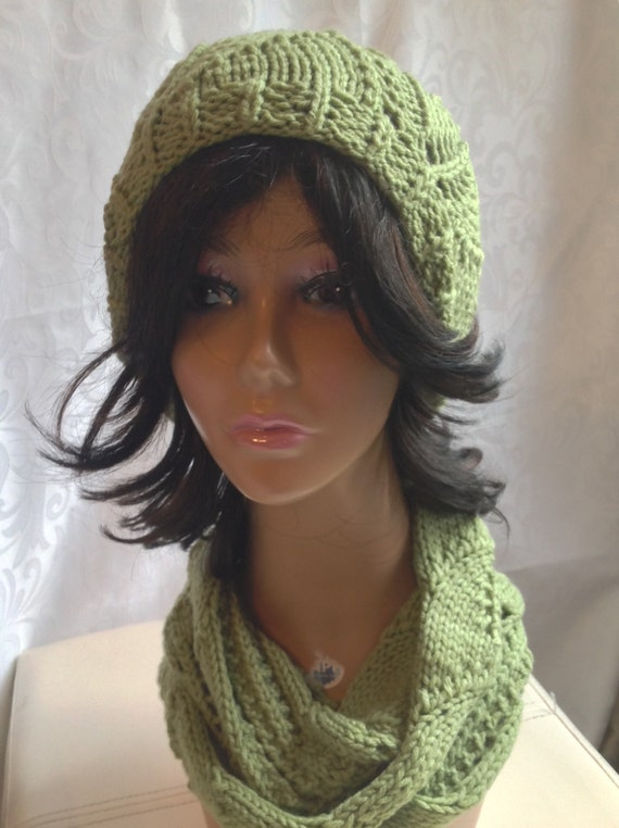 Vite Cowl Knitting Pattern : Knit cowl knit hat hat and scarf set knit green scarf vite