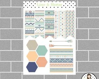 Aztec Decorator Set Planner Stickers