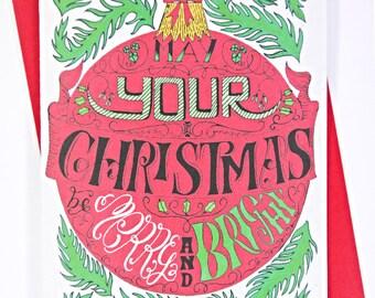 Bauble Christmas Card