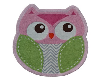 71256Q- Shaped Owl- (Size = 3' x 3')