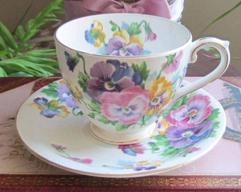 Free Shipping Queen Anne SPRING MELODY Bone China Cup and Saucer - Made in England