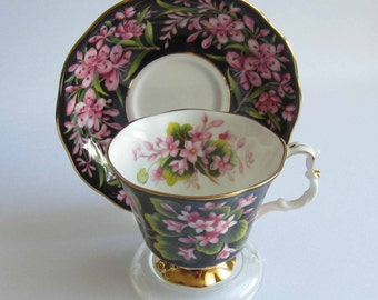 Free Shipping Royal Albert Provincial Flowers MAYFLOWER Bone China Tea Cup and Saucer