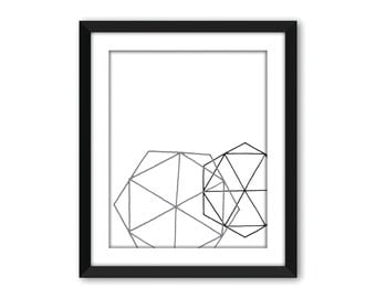 Geometric print, Geometric art, Abstract art, Abstract wall art, Abstract poster, Wall decor, Printable art, Wall art, Scandinavian print