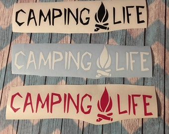 Camping Life Car decal / Camping Decals / Adhesive Stickers / Decal / We Love Camping Vinyl Decal