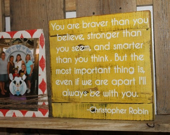 Christopher Robin reclaimed wood sign, in choice of colors