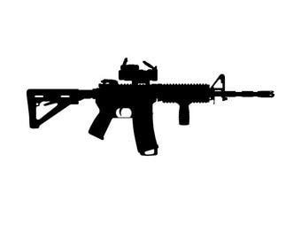 AR-15 Vinyl Vehicle Decal FREE SHIPPING