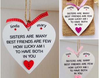 Personalised Sister Quote Plaques - Sister Plaques - Personalised Sister Gifts