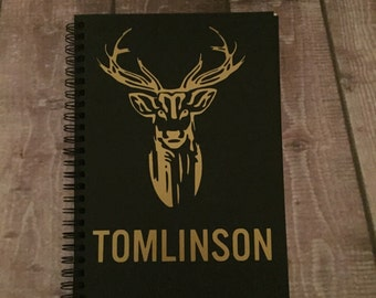One Direction | Louis | Gold Name Notebook