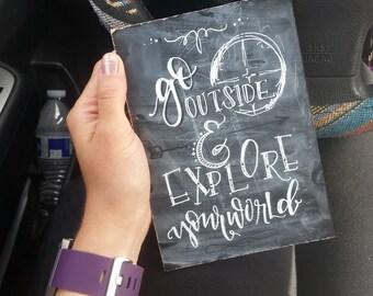 Go Explore Chalkboard & Print