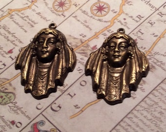 Art Deco bride charms 4 pc