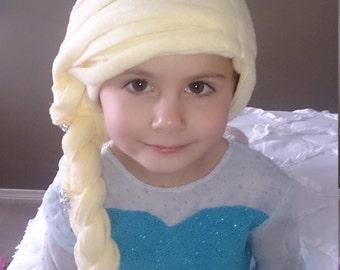 Elsa (Frozen) Polar Fleece Hat/Wig