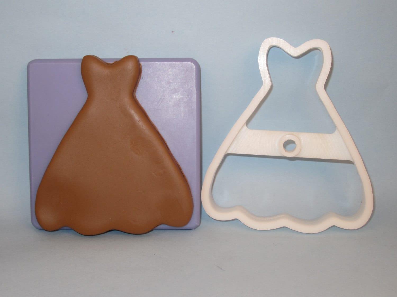 Wedding dress gown deep cut cookie cutter for Wedding dress cookie cutters