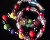 Three Fun Glass Beaded Bracelets