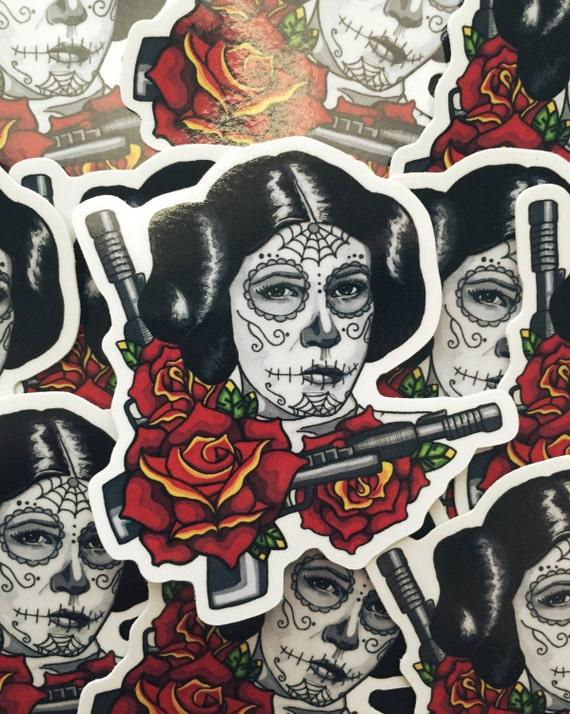 Sugar Skull Princess Leia Day Of The Dead Dia De Los