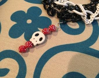Sugar Skull Bracelet, Day of the Dead Bracelet