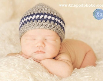 Crochet Baby Hat, Ready to Ship, Baby Boy Hat, Baby Newborn Hat, Newborn Beanie,  Baby Shower Gift, Coming Home Hat, Baby Photo, Baby Hat