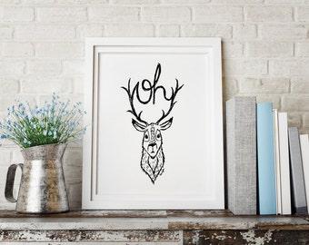 Oh Deer! - A4 Art Print