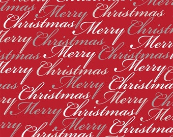 "Red Merry Christmas Fabric/""Christmas Dreams"" collection  24558 -R"