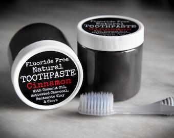 Organic Cinnamon Toothpaste / Organic Toothpaste / Natural Toothpaste / Fluoride Free Toothpaste / Cinnamon Toothpaste / Vegan Paste