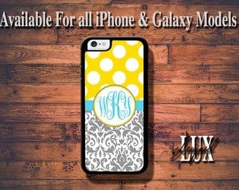 iPhone 6 Case/ iPhone 6 Plus Case/ Damask iPhone 5/5S Case/ Monogram iPhone 4/4s Case