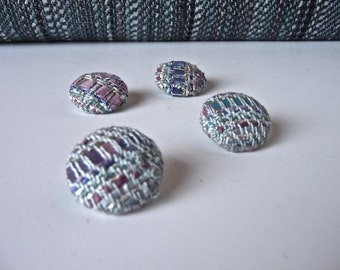 Buttons made from my Silver Grey Handwoven Fabric