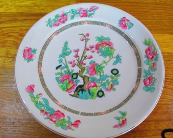 crown clarence indian tree serving plate ref 6