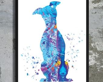 Miniature Pinscher Watercolor Art Print Miniature Pinscher poster Home Decor Dog painting Boy Girl room wall decor LIttle dog birthday gift