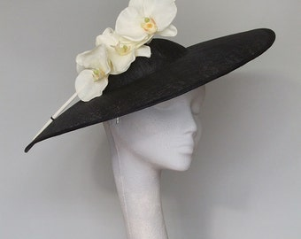 Black and White Fascinator Headpiece