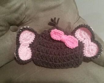 Crocheted Elephant Hat Pattern