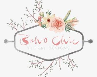 Business logo, Graphic Design, Floral logo, Boho,  Business Branding, Ready made logo, Watermark, Premade logo, Logo design, Business Logo