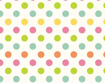 SALE By the Yard C620-11 Cream Multi Dot Cotton Riley Blake Designs 100% cotton