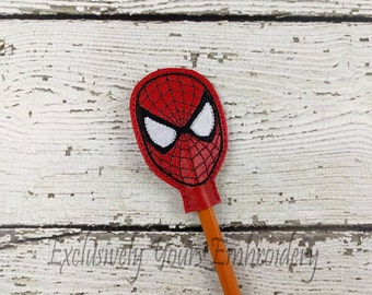 Web Hero Pencil Toppers - Classroom Prizes - Party Favor - Party Supplies - Small Gift - Back to School
