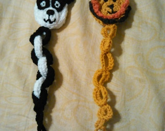 Crocheted Baby Pacifier clips