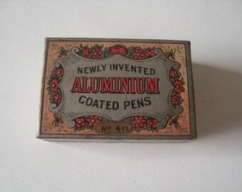 Antique Newly Invented Aluminium Pens,Somerville & Co.with 47 pieces in original box ,Birmingham