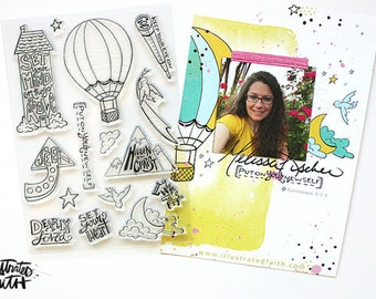 Illustrated Faith - Set Your Mind 6x8 Stamp Set by Melissa Fischer