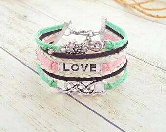 Fox Jewelry, Fox Bracelet, Infinity Bracelet, Love Bracelet, Fox Gift, Girlfriend Gift, Daughter Jewelry, Gift for Her, Infinity Jewelry