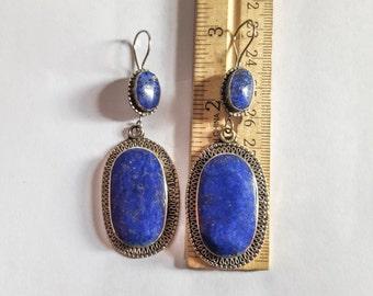 Traditional Afghan lapis earrings