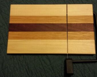 Cheese Cutter Board - Purpleheart, White Oak, Poplar