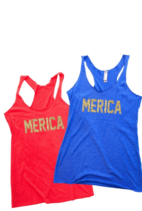 MERICA Womens Tank Top / America Shirt / USA Shirt / Funny Shirts / 4th of July Shirt for Women / 4th of July Tank Top / 4th of July Tank