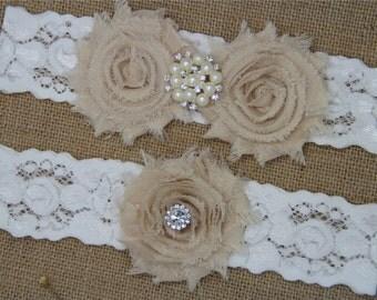 Wedding Garter,Bridal Garter Set,Keepsake Garter,Toss Garter,Ivory Lace Garter,Ivory Wedding Garter Belt -472