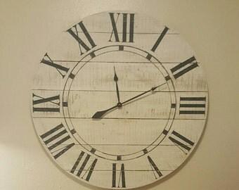 Items Similar To Rustic Reclaimed Barn Board Wall Clock
