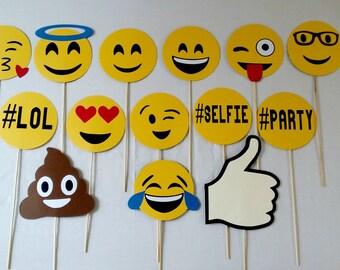 Emoji Photo Props - Photobooth - Emoji party - Party supplies